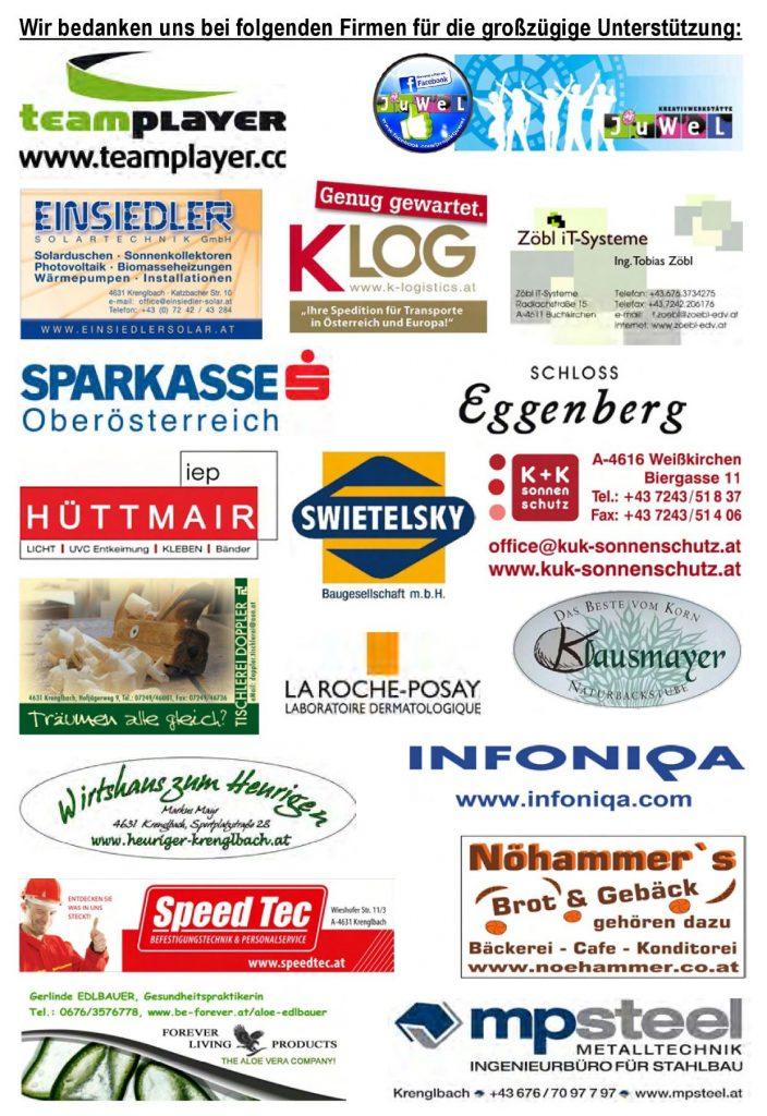 22. Krenglbacher Hügellauf - Sponsoren